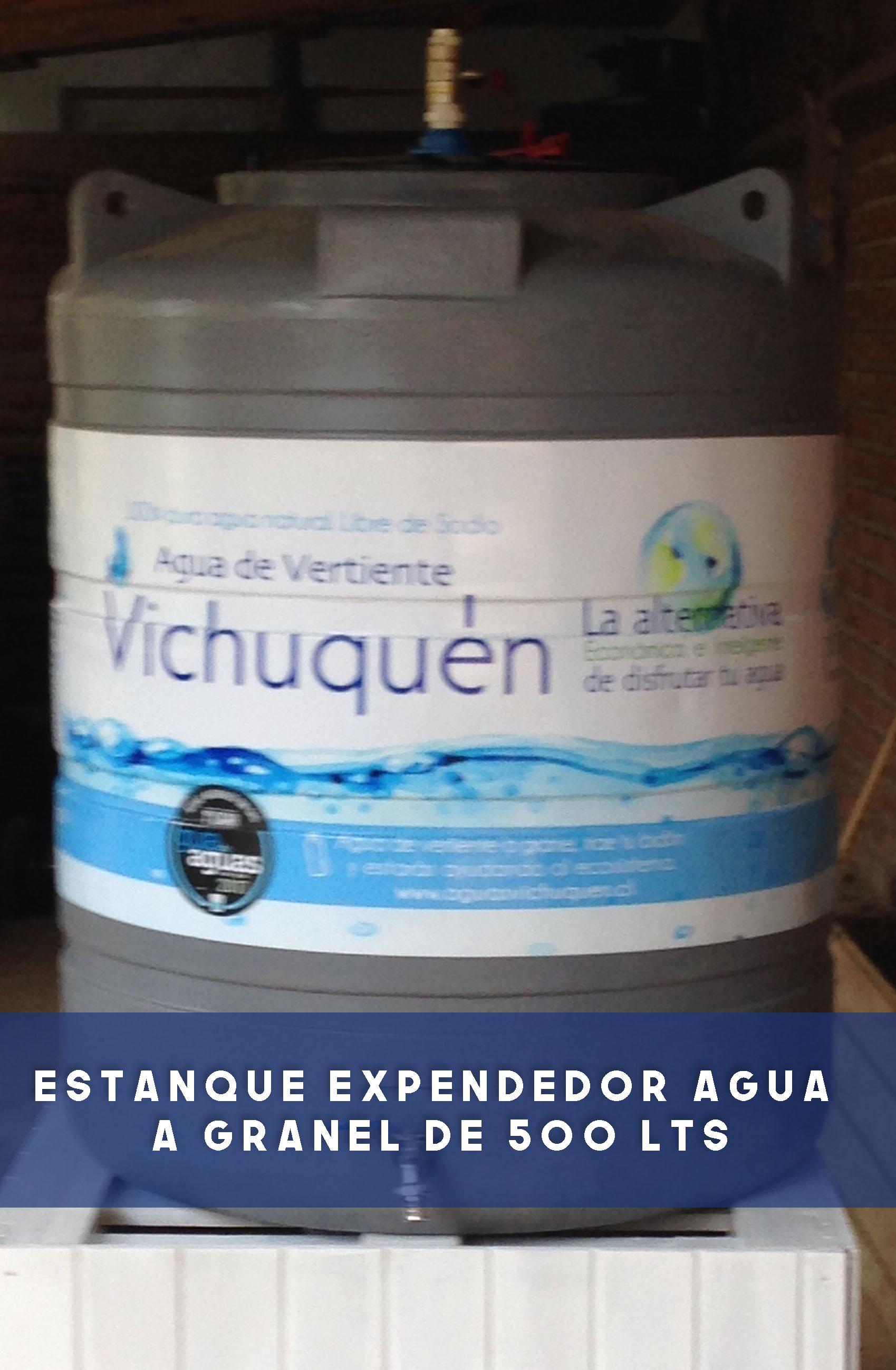 Estanque expendedor agua a Granel de 500 lts.
